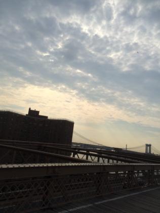 Going back to Brooklyn via the Brooklyn Bridge