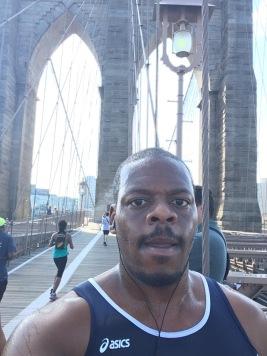 Brooklyn Bridge selfie.