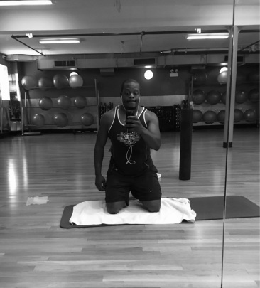 Post run stretching