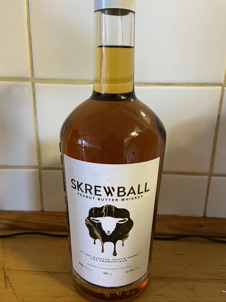 Skrewball peanut butter whiskey.