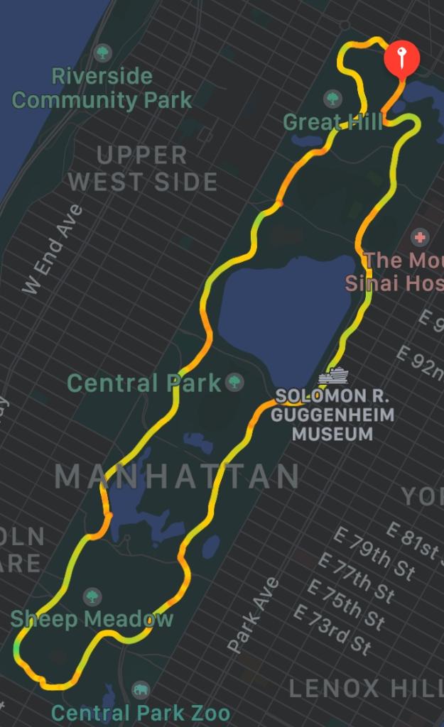 Ted Corbitt's loop in Central Park.