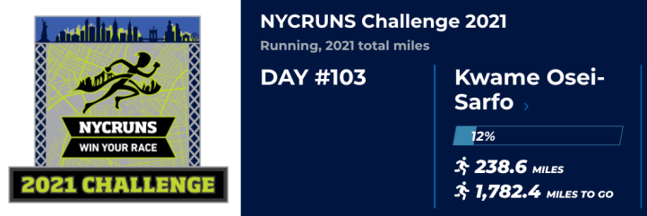 Update for NYCRuns 2021 Challenge