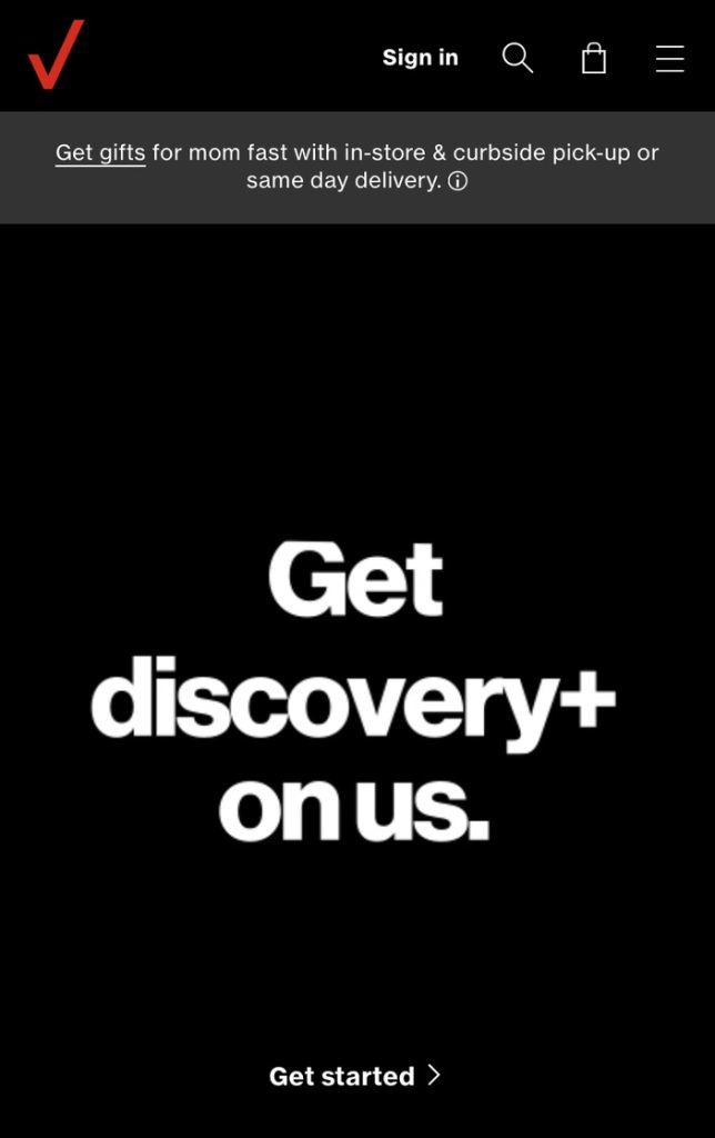 Verizon wireless customers get 6 months of Discovery+ for free!