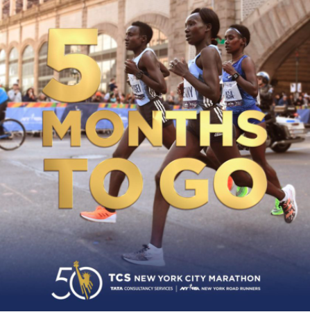 Image showing that TCS NYC Marathon is only 5 months away.