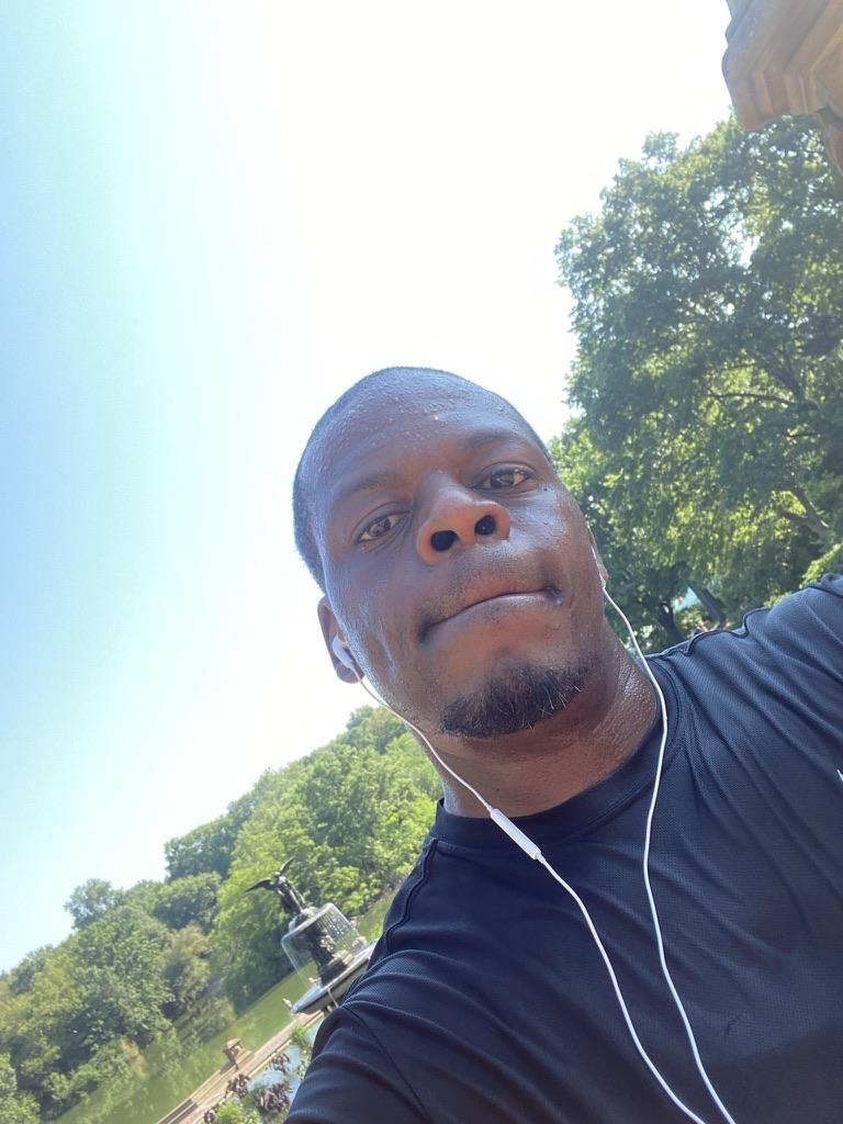 KOS' running in Central Park.