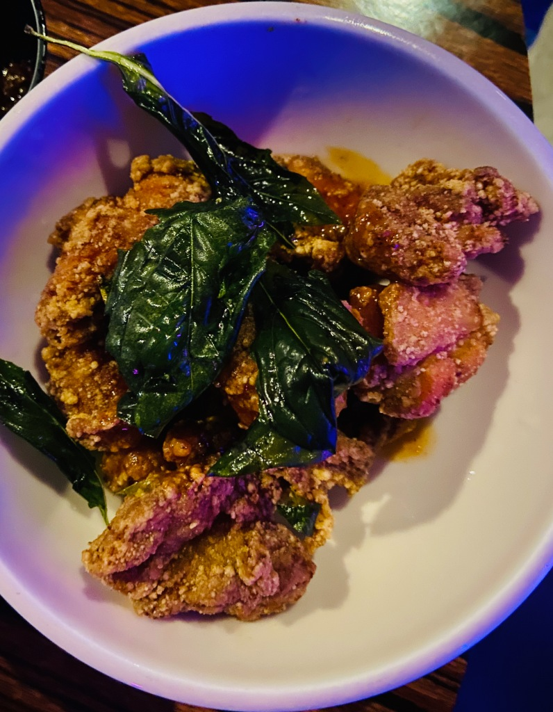 Honey Glazed Popcorn Chicken - Dish from 886 in the East Village in NYC.